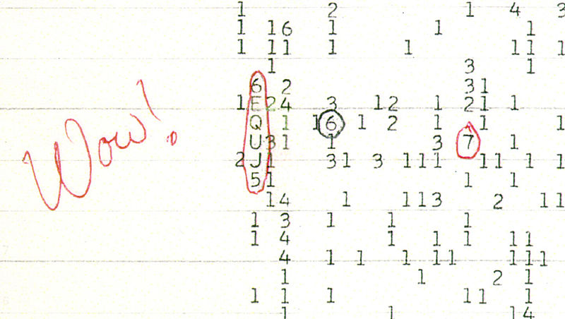 Wow! Signal from SETI 1977